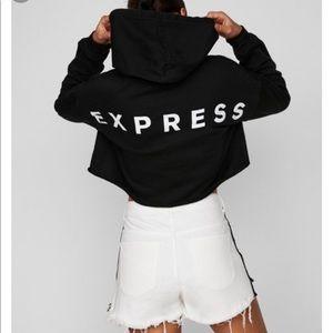 Express Cropped Hoodie NWOT